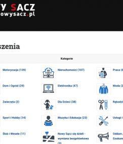 Portal informacyjny i ogłoszeniowy dla mieszkańców Nowego Sącza