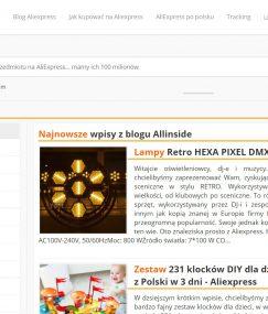 Interesujący blog tematyczny odwołujący się do serwisu AliExpress